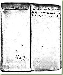 The front of Abraham Annison's CMSR envelope, flap open